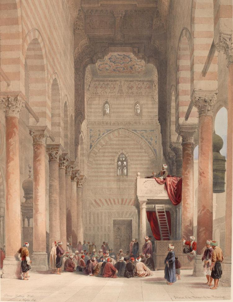 DAVID ROBERTS. THE HOLY LAND, SYRIA, IDUMEA, ARABIA, EGYPT & NUBIA, 1842-1849, 6 VOLUMES, DELUXE HAND-COLOURED COPY