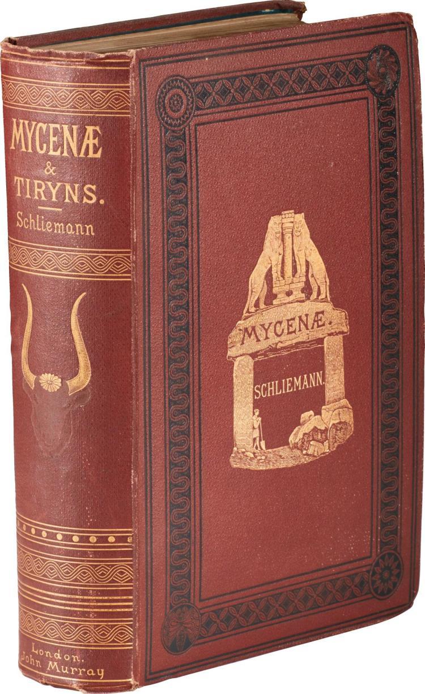 SCHLIEMANN. MYCENAE, 1878, PRESENTATION COPY