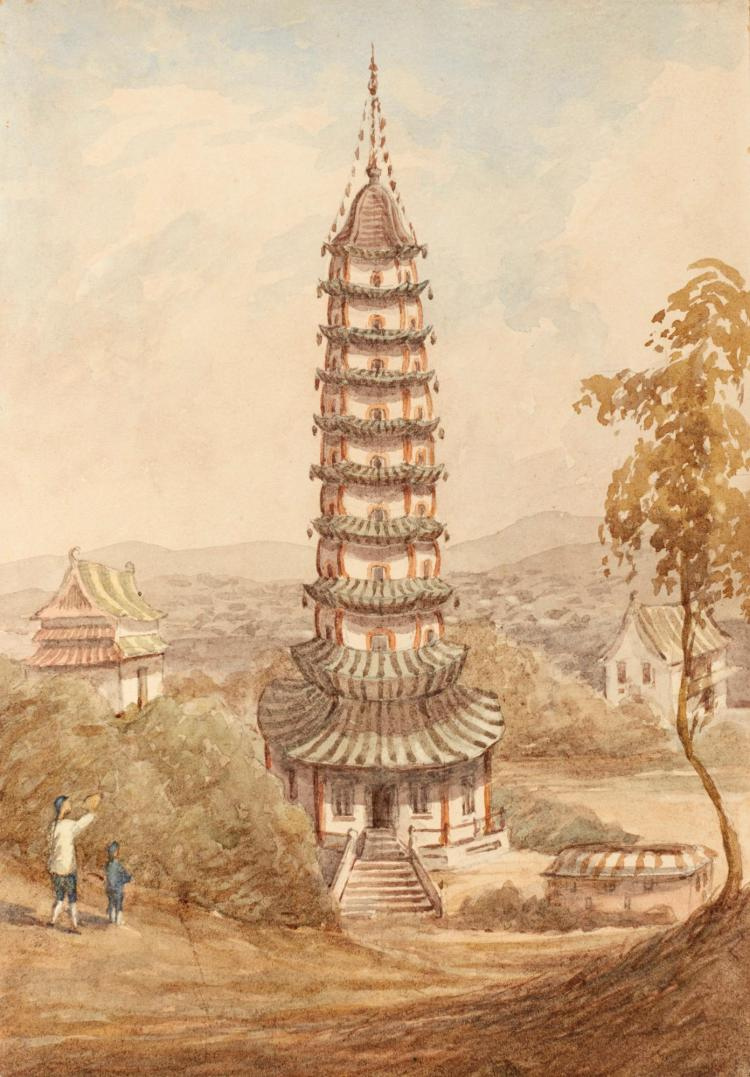CHINA AND JAPAN WATERCOLOURS, BY JAMES BUTT, 1866-1870