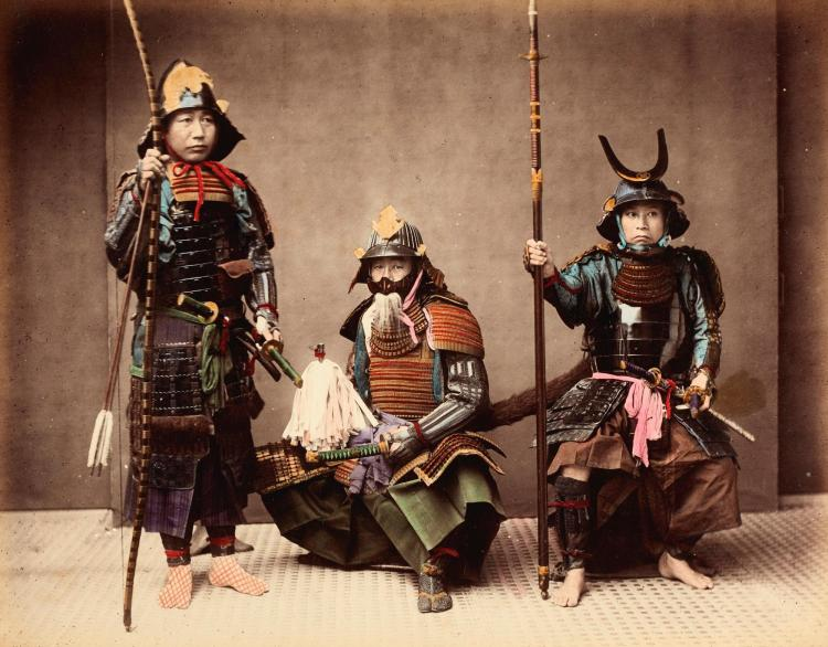 JAPAN. A COLLECTION OF 38 PHOTOGRAPHS ON 19 SHEETS [1880S]