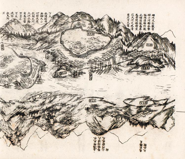 JIANG. XIA JIANG TU KAO. [THE THREE GORGES OF THE YANGTZE RIVER]. GUANGXU 15 [1889].