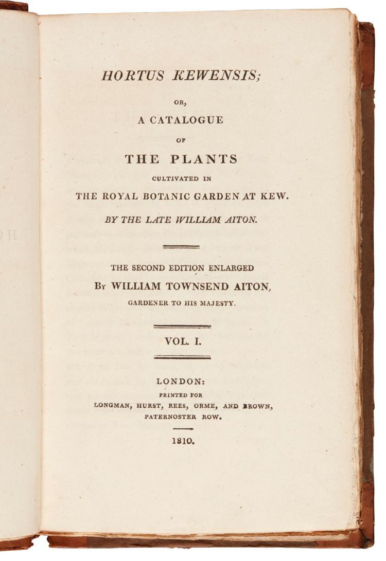 AITON, HORTUS KEWENSIS, 1810-1813, 5 VOL.