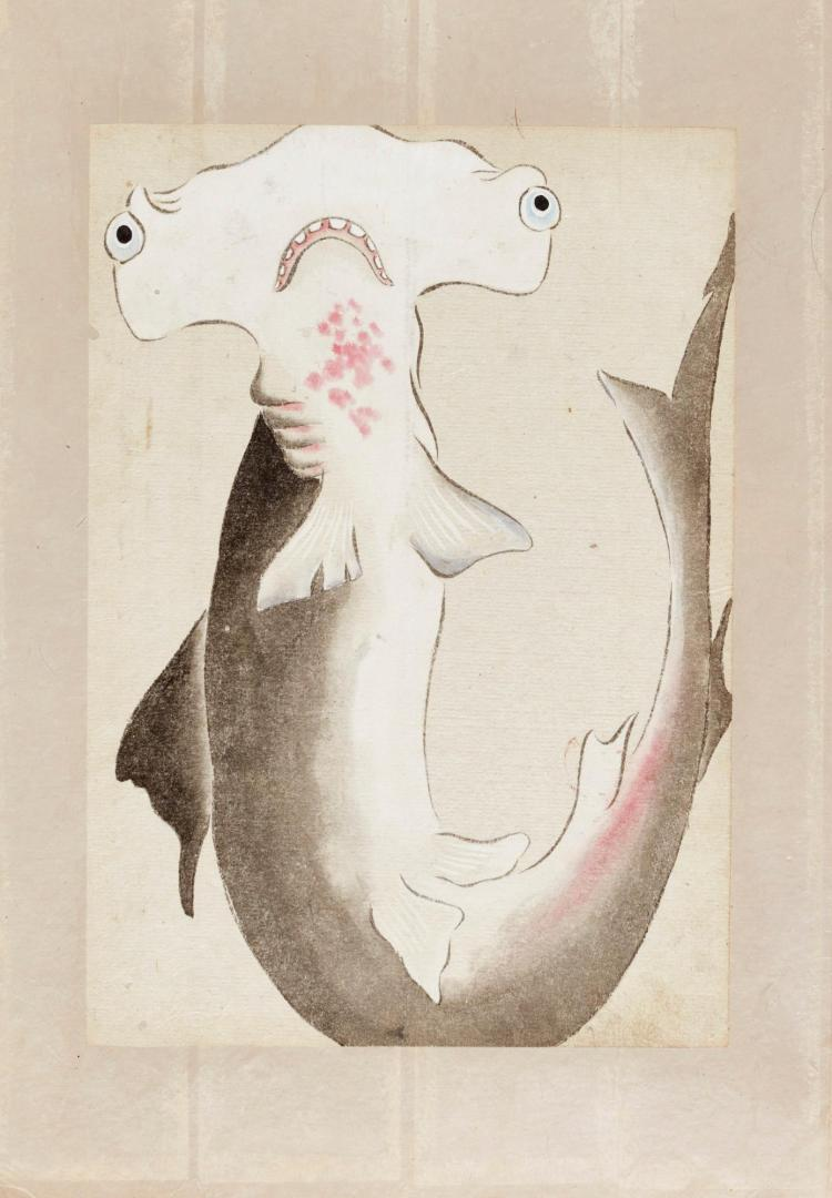 JAPANESE WATERCOLOUR COLLECTION. [MID-19TH-CENTURY]