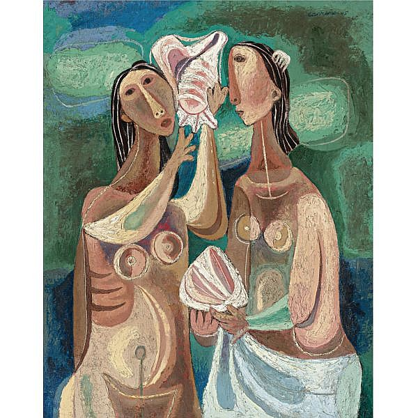 Mario Carreño (1913-1999) , Young Girls with Shells