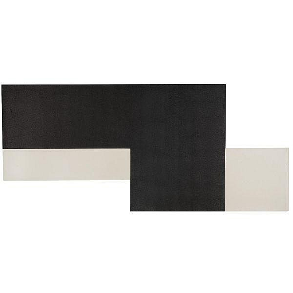 Michael Heizer , b.1944 Untitled No. 8 polyvinal and latex on canvas