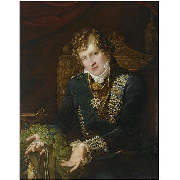 Carl Christian Vogel von Vogelstein German, 1788-1868 , Portrait of Prince Johann of Saxony (1801-1873) oil on canvas