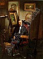*THOMAS HOVENDEN (1840-1895) SELF PORTRAIT OF THE ARTIST IN HIS STUDIO, Thomas Hovenden, Click for value