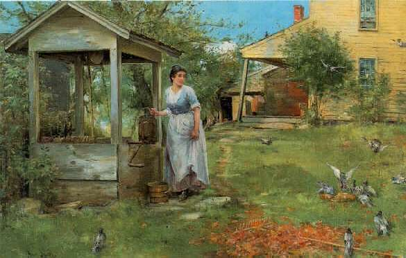*HENRY BACON (1839-1912) AT THE WELL