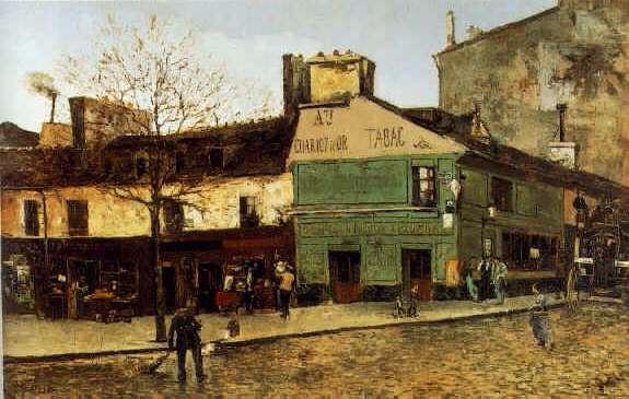 FRANK MYERS BOGGS (1855-1926) STREET SCENE IN PARIS