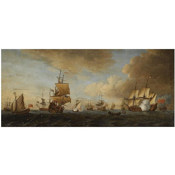 - John Cleveley the Elder , active 1747-1792 The British Fleet at sea, 1688 oil on canvas