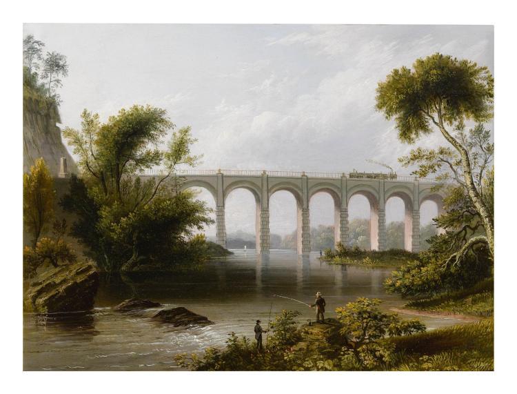 JAMES SALISBURY BURT, ACTIVE CIRCA 1830-1949   Viaduct on the Baltimore and Washington Railroad