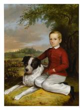 CHARLES OCTAVIUS COLE   Boy with Dog