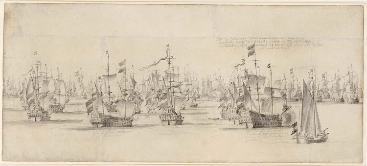 WILLEM VAN DE VELDE THE ELDER LEIDEN 1611 - 1693 LONDON