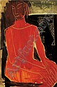 Ding Yanyong , 1902-1978 Red Lady oil on canvas   , Yanyong Ding, Click for value