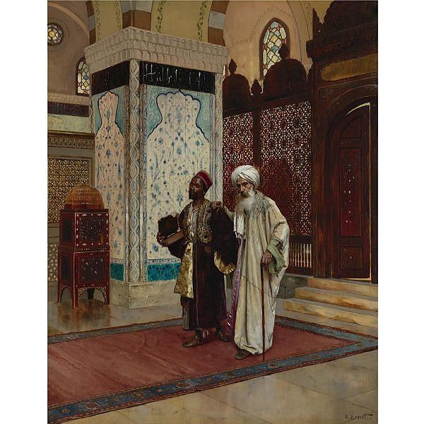 Rudolf Ernst , Austrian 1854-1932 The Venerated Elder oil on panel
