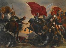 ATTRIBUTED TO VINCENT ADRIAENSSEN LECKERBETIEN, CALLED IL MANCIOLA   Cavalry battle scene
