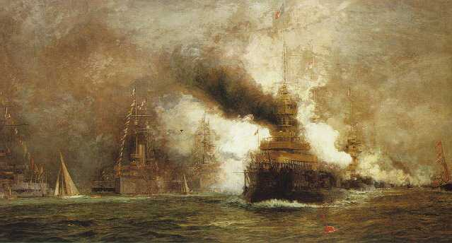 WILLIAM LIONEL WYLLIE, R.A. L'ENTENTE CORDIALE; ARRIVAL OF THE FRENCH FLEET IN COWES ROADS