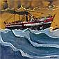 - Dimitris Mytaras , Greek b. 1934   on high seas oil on canvas     , Dimitrios Mytaras, Click for value
