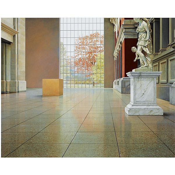 - Willem van Veldhuizen , b. 1954 Metropolitan Four acrylic on canvas