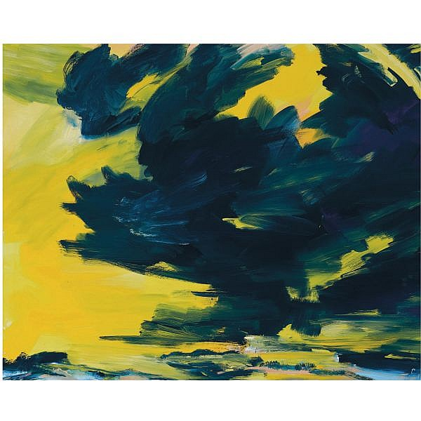 - Bernd Zimmer , b. 1948 Ohne Titel (Himmelbild) acrylic on canvas
