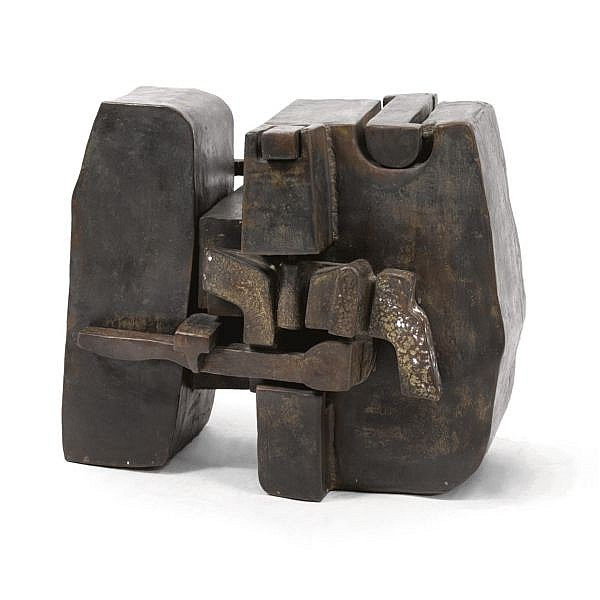 Miguel Berrocal , 1933-2006 Bijou (Opus 32) bronze with brown patina