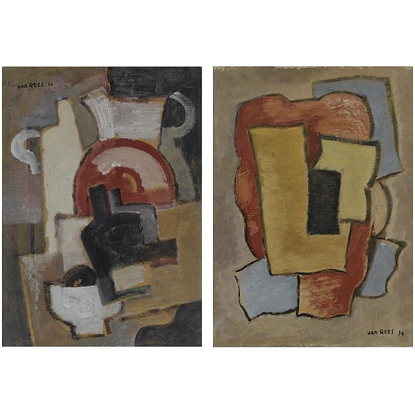 - Otto van Rees , 1884-1957   Composition oil on cardboard