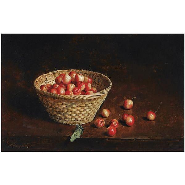 - Willem Dolphijn , born 1935   Still life with berries oil on panel