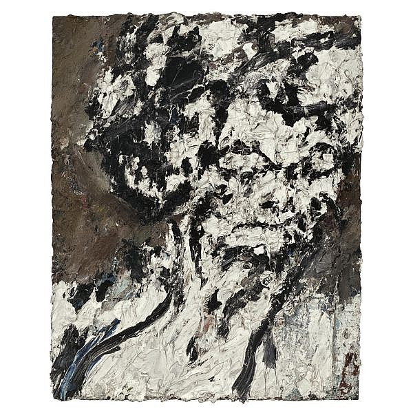 - Frank Auerbach , b. 1931 Head of Helen Gillespie oil on board