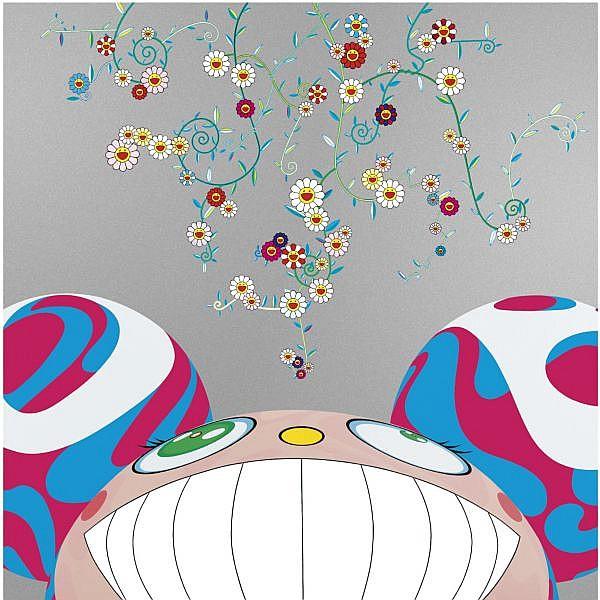 - Takashi Murakami , b. 1962 DOB Flower acrylic on canvas laid down on board