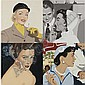 Julia Jacquette , B. 1964 Woman Smoking: White Hat oil on canvas   , Julia Jacquette, Click for value