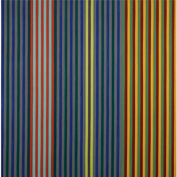 Gene Davis , 1920-1985   Split Beat acrylic on canvas