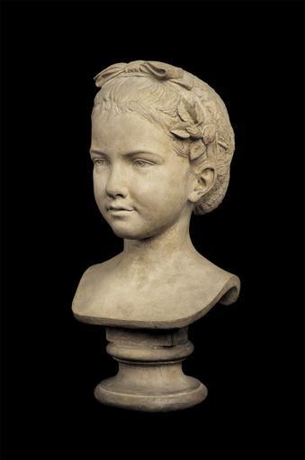 GUSTAVE-ADOLPHE-DÉSIRÉ CRAUK,1827-1905 BUSTE REPRÉSENTANT MADEMOISELLE DE MALAKOFF FRANCE, XIXE