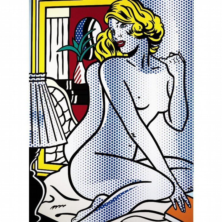 PROPERTY FROM THE COLLECTION OF GIANNI VERSACE: NEW YORK ROY LICHTENSTEIN 1923-1997 BLUE NUDE