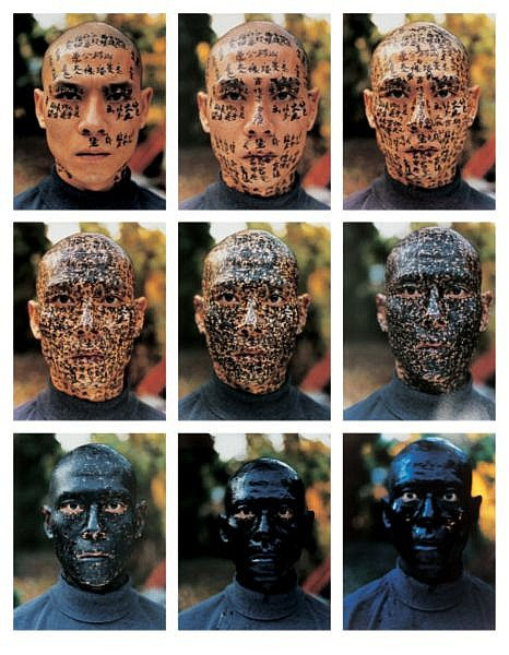Zhang Huan , B. 1965 Family Tree (Set of Nine) chromogenic print
