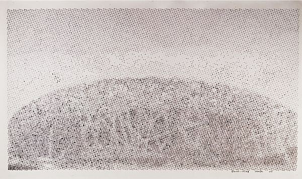 Chen Shaoxiong , B. 1962 Collective Memory Series - Beijing: Olympic Stadium ink and colour on paper