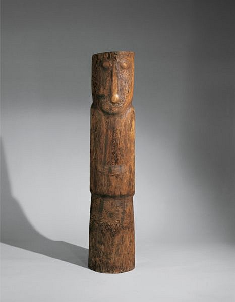 Wang Keping , B. 1949 Untitled wood sculpture