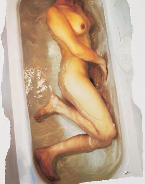 Xu Wentao , B. 1968 Mirror Body No.24 oil on canvas