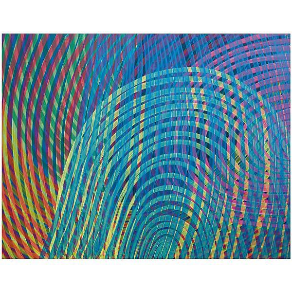 - Katharina Grosse , b. 1961   O. T. (Untitled) acrylic on canvas