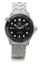 OMEGA | A STAINLESS STEEL AUTOMATIC CENTER SECONDS WRISTWATCH WITH DATE AND BRACELET<br />SEAMASTER CIRCA 2014