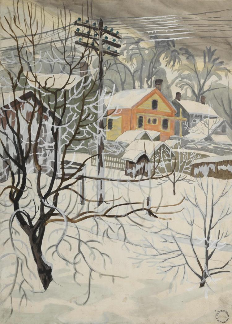 CHARLES EPHRAIM BURCHFIELD | Power Lines and Snow
