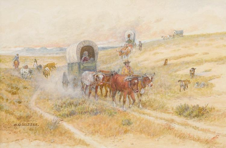 OLAF CARL SELTZER | Wagon Train Across the Prairie