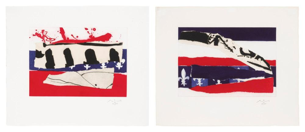 ROBERT MOTHERWELL (1915 - 1991) | French Revolution Bicentennial Suite III and IV (Walker Art Center 384 and 385)