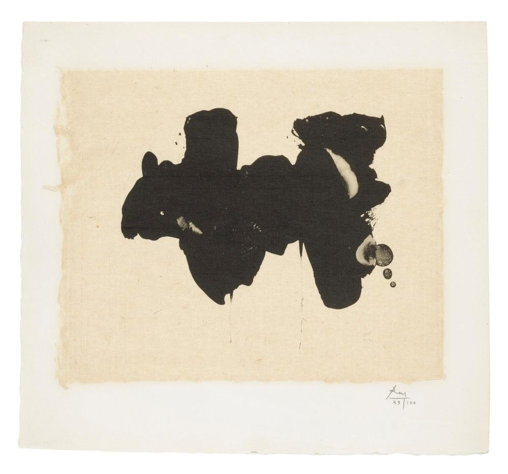 ROBERT MOTHERWELL (1915 - 1991) | Alberti Elegy (Walker Art Center 288)