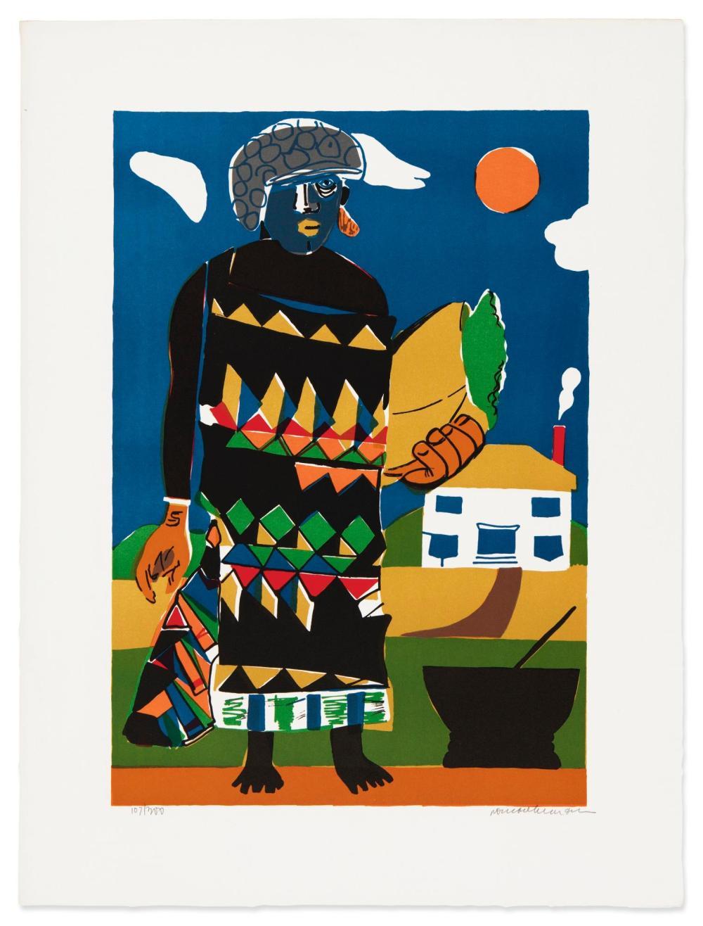 ROMARE BEARDEN (1911 - 1988) | Pilate (Misty Island) (Gelburd/Rosenberg 80)