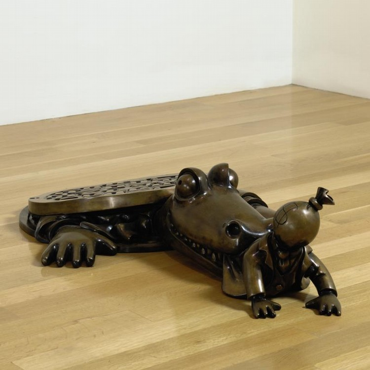 TOM OTTERNESS B. 1952 ALLIGATOR