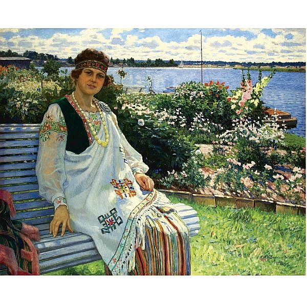 Nikolai Petrovich Bogdanov-Belsky, 1868-1945 , Spring oil on canvas
