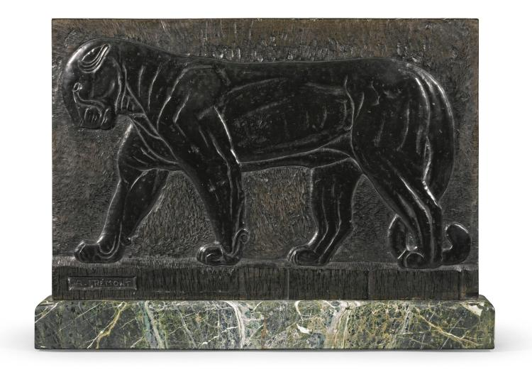 AUGUSTE NICOLAS TRÉMONT | Relief with a Walking Panther