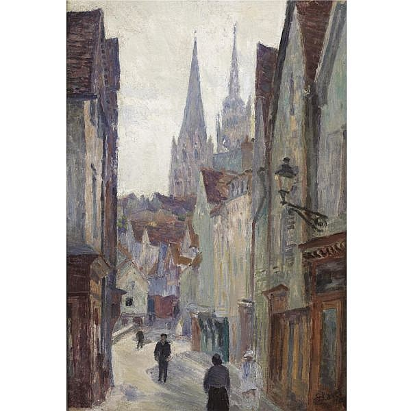 Louis Hayet , RUE DE VILLAGE oil on board