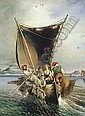 CONSALVO CARELLI (ITALIAN 1818-1900) FISHERMEN IN THE BAY OF NAPLES, Consalvo Carelli, Click for value