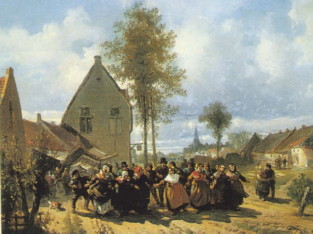 FLORENT NICHOLAS CRABEELS (BELGIAN 1829-96) WOMEN RACING